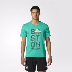 aDiDas 2017 boston marathon irish TEE t-shirt